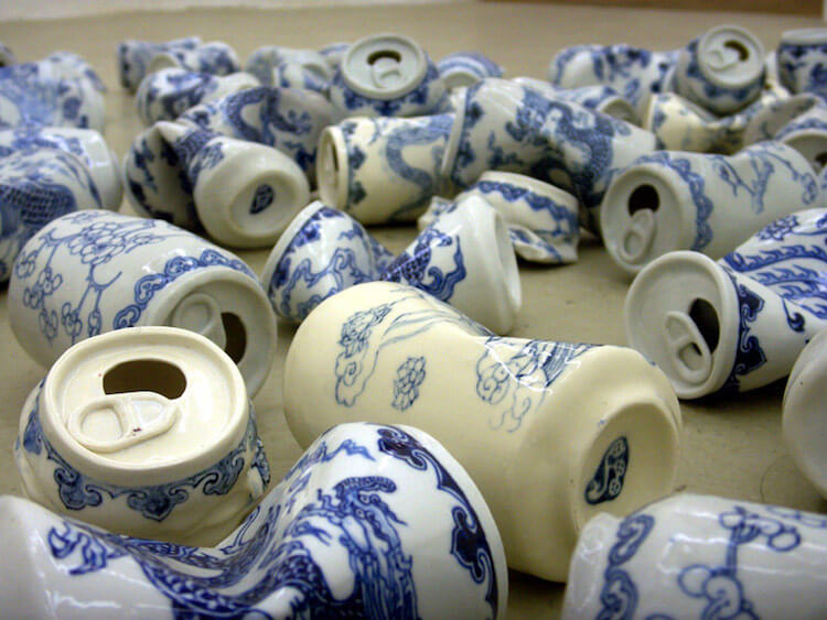 lei xue smashed cans porcelain sculptures 8 (1)
