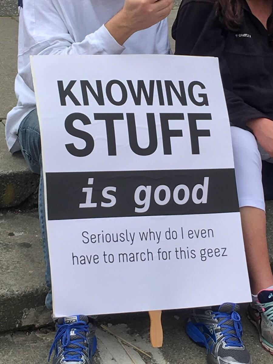 The Best Signs From The March For Science Protesting Trump