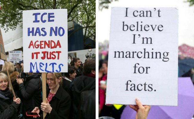 march for science signs feat