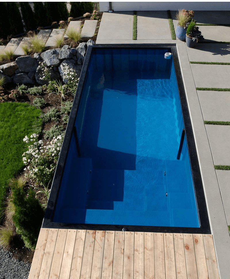 This Shipping Container Pool Is The Coolest New Trend If You Have The Garden For It