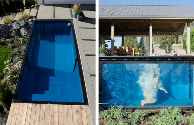 shipping container pool feat