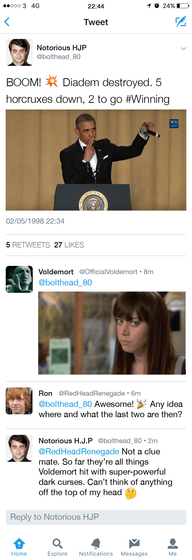 If Harry Potter Characters Had twitter 2