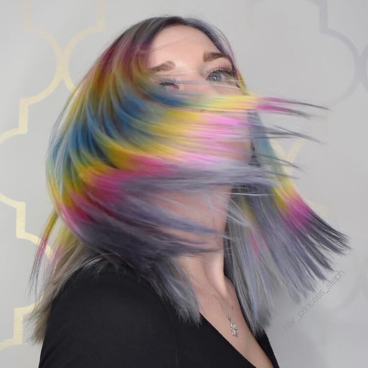 Shine Line hair trend 2