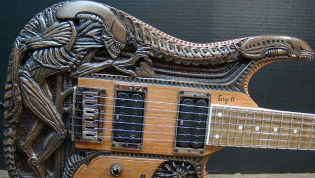 alien electric guitar feat