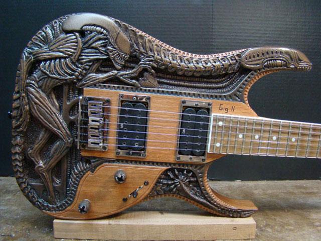 alien electric guitar