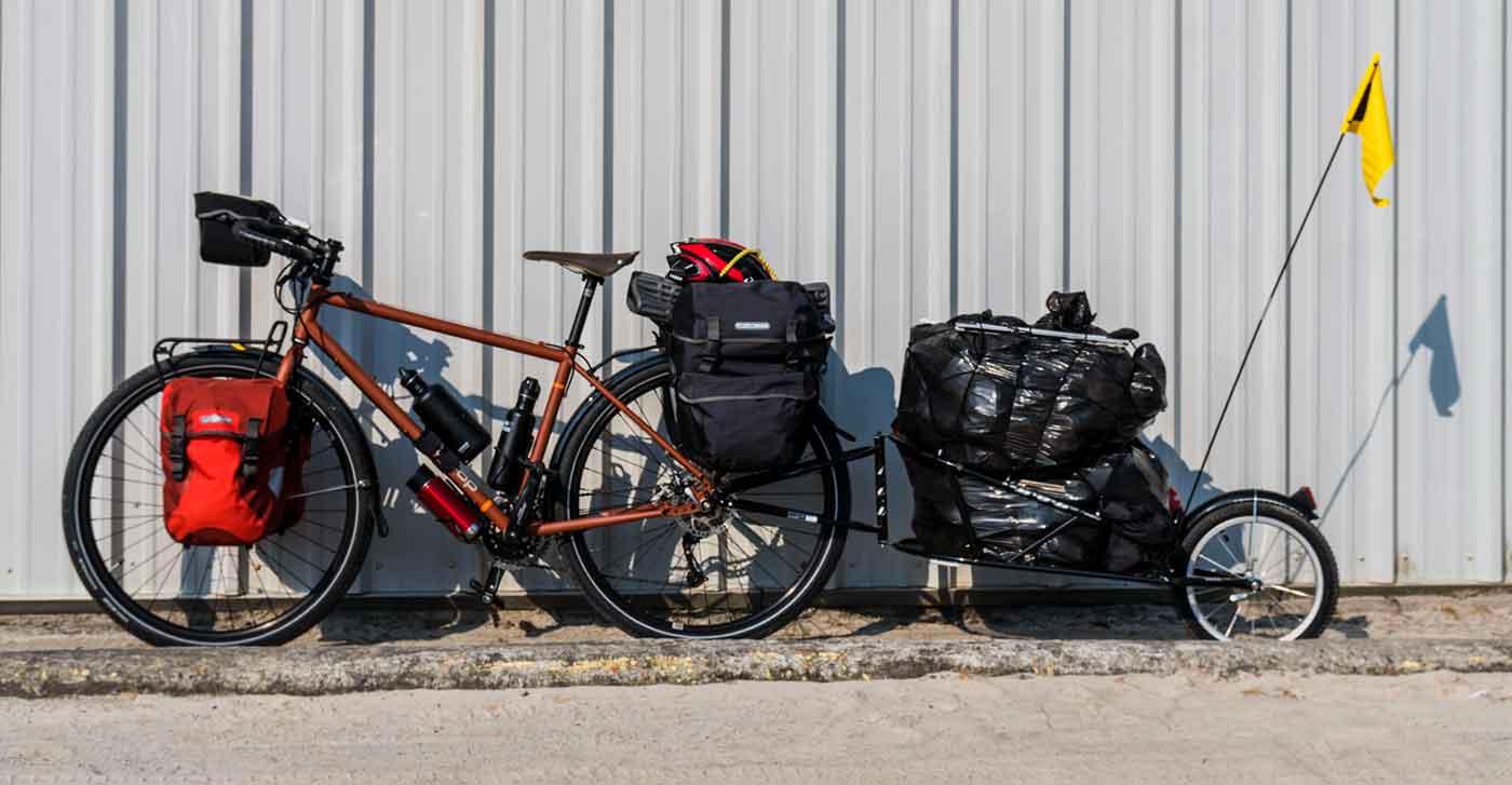 biking accross USA collecting trash 5