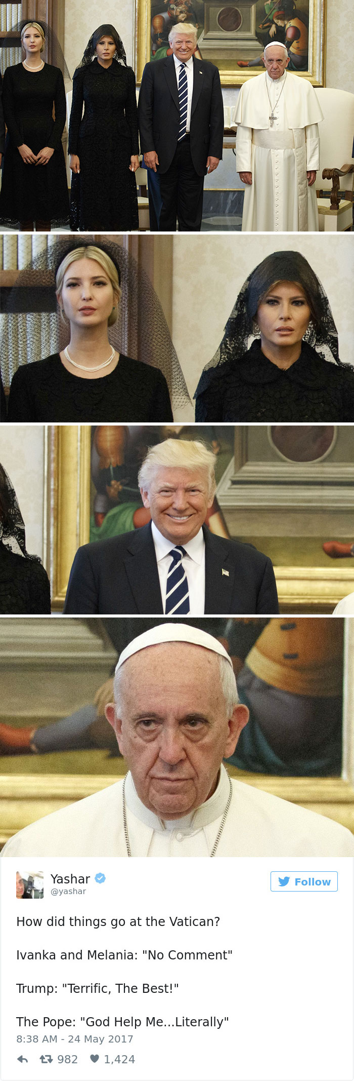 donald trump pope francis awkward photo 11