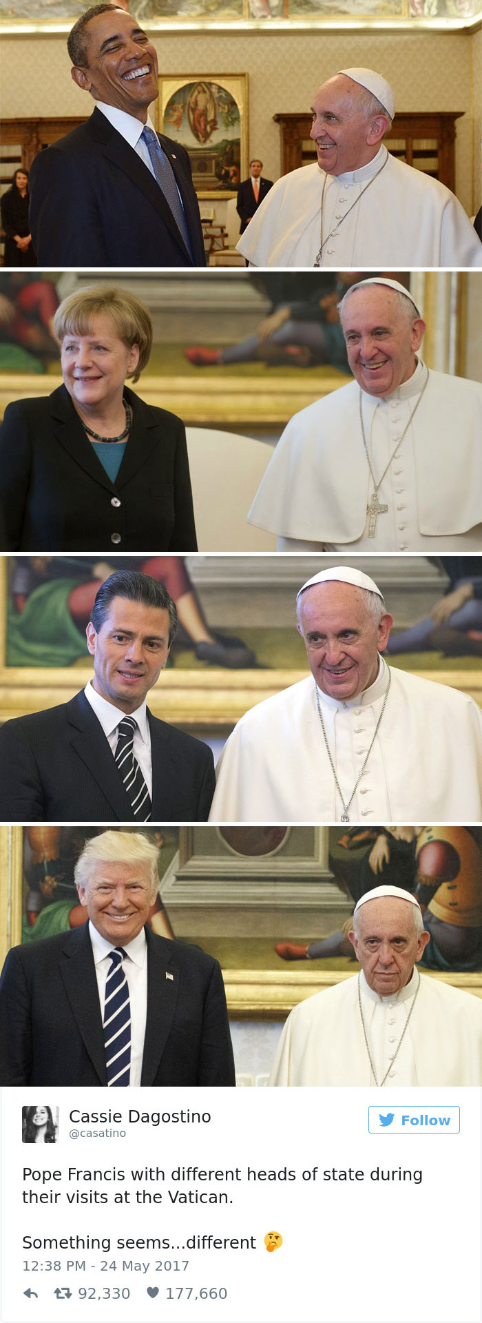 donald trump pope francis awkward photo 3