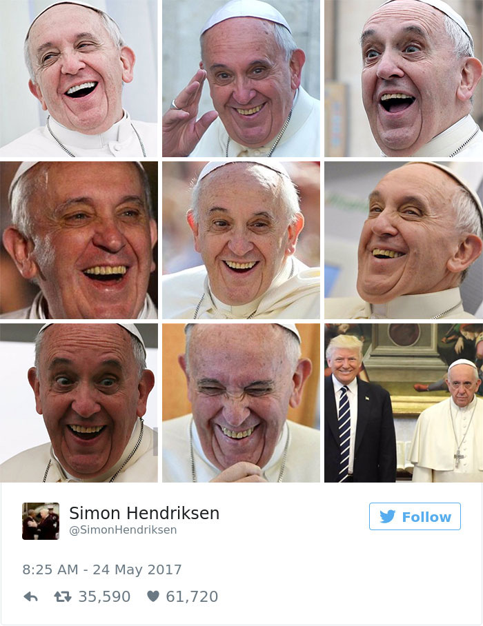 donald trump pope francis awkward photo 4
