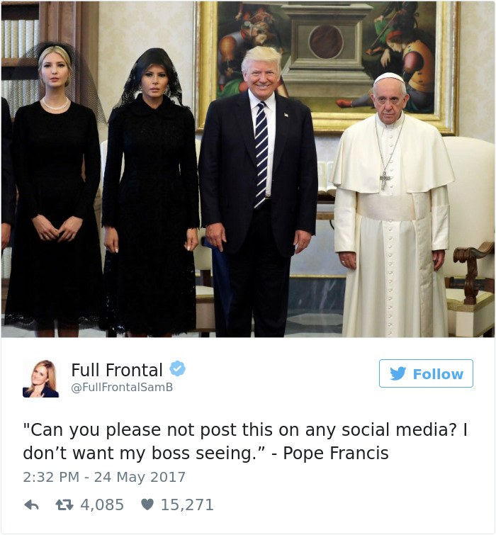 donald trump pope francis awkward photo 8