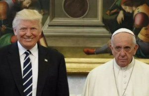 donald trump pope francis awkward photo feat