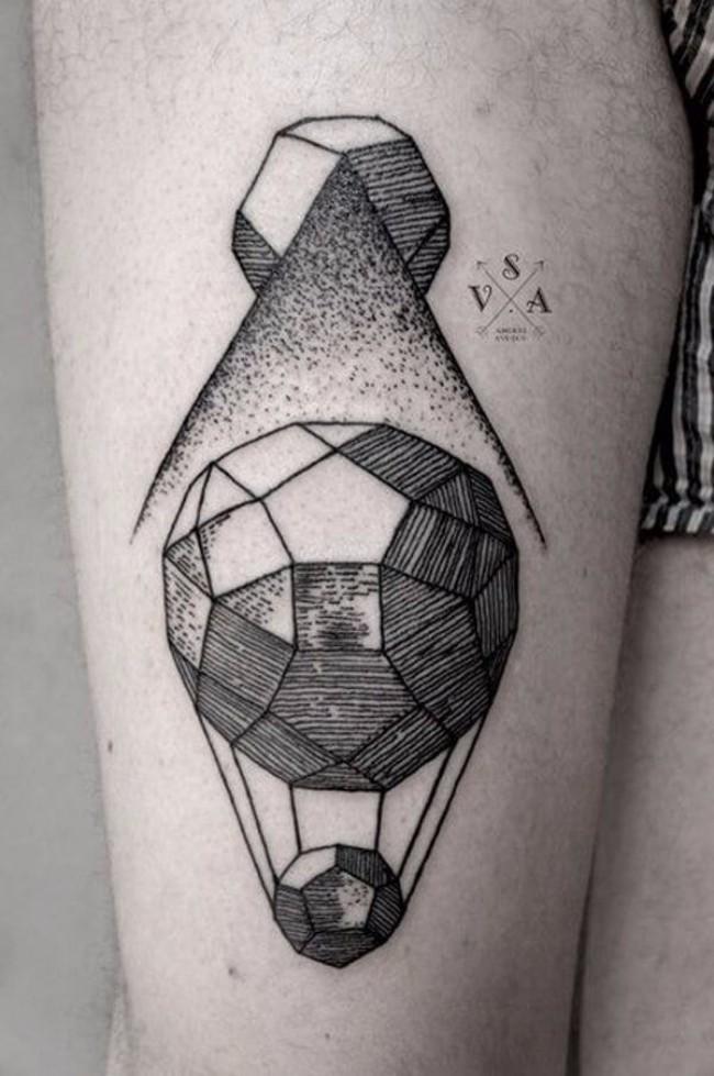 geometrical tattoos 22