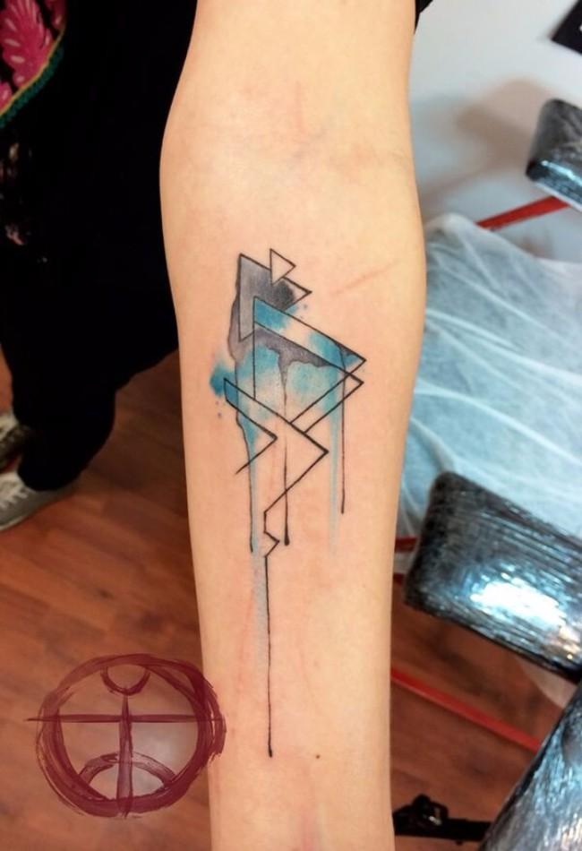 geometrical tattoos 23