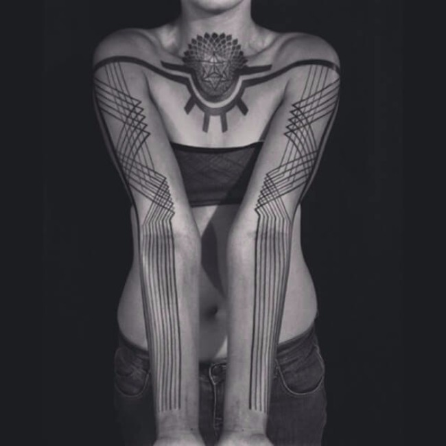 symmetrical tattoos 75