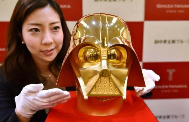 gold darth vader mask feat