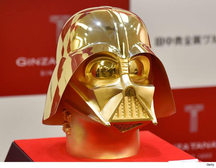 gold darth vader mask