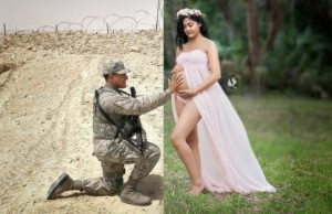 husband and wife maternity images feat