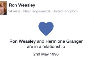 if harry potter characters had social media feat