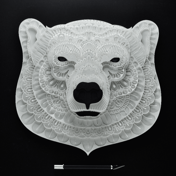 paper portraits of animals 13