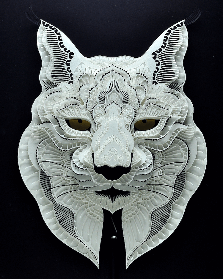 paper portraits endangerd animals 2