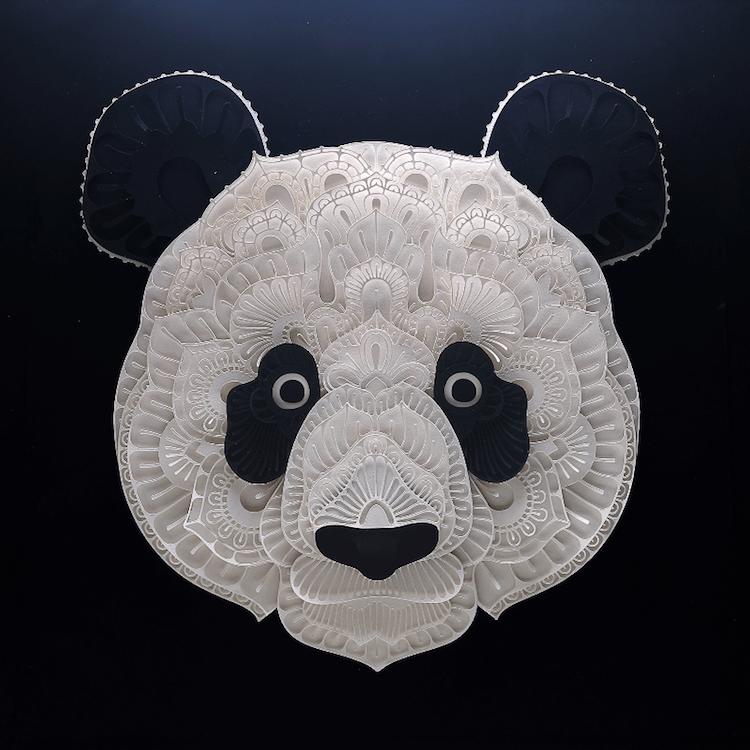 paper portraits endangerd animals 3