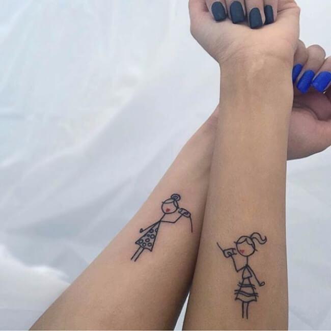 sister tattoo designs 11
