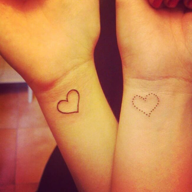 sister matching tattoos 35