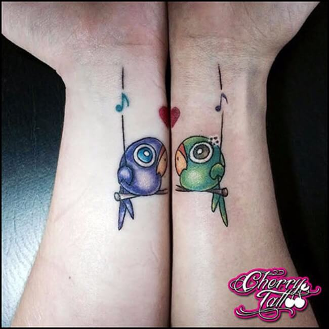 sister matching tattoos 38