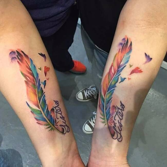 Matching Sister Tattoos: 69 Sister Tattoos To Show That Special Bond Between Two