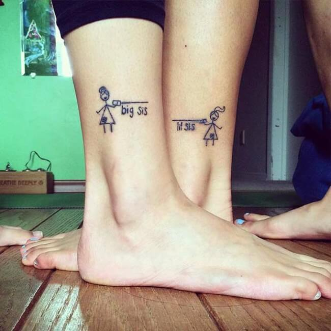 69 sister tattoos to show that special bond between two for Sisters tattoo designs