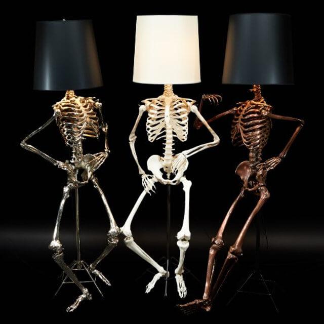 skeleton lamp