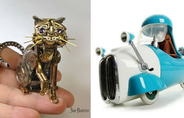 steampunk sculptures feat