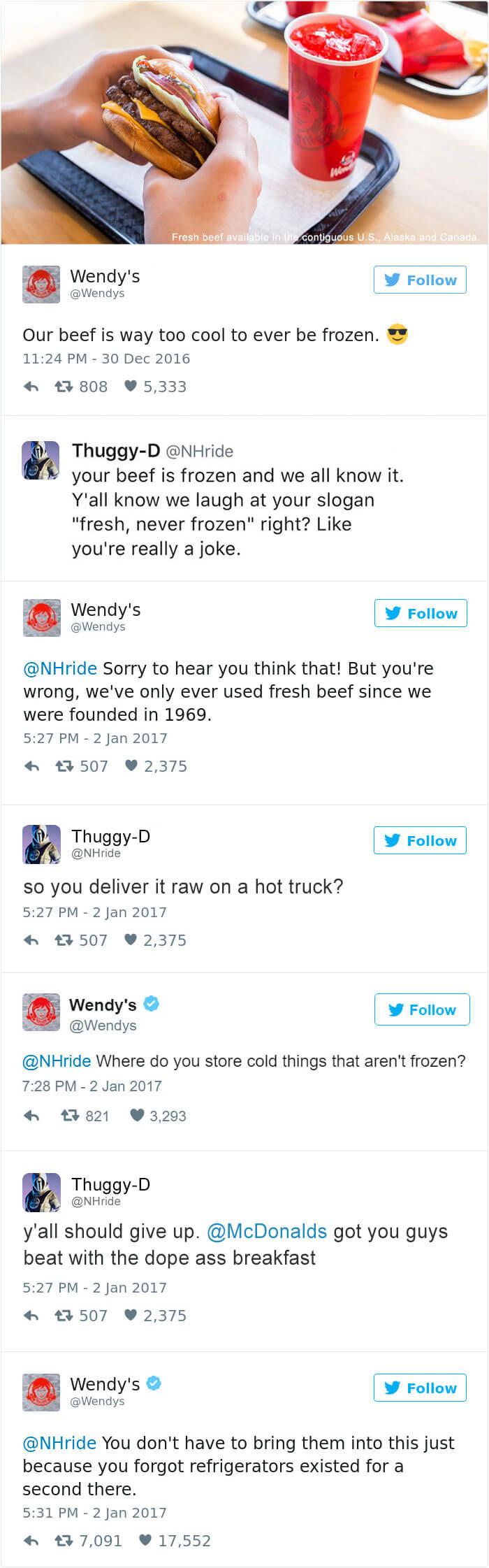 wendy's twitter roasts 2