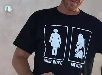 Gal Gadots Husband's wonder woman T Shirt 5