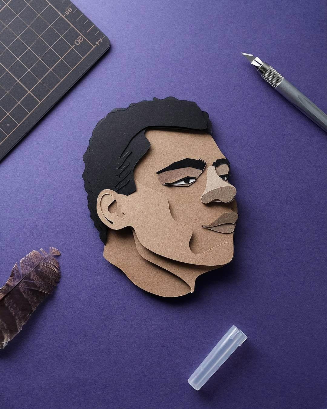 John Ed De Vera cutting paper art 4