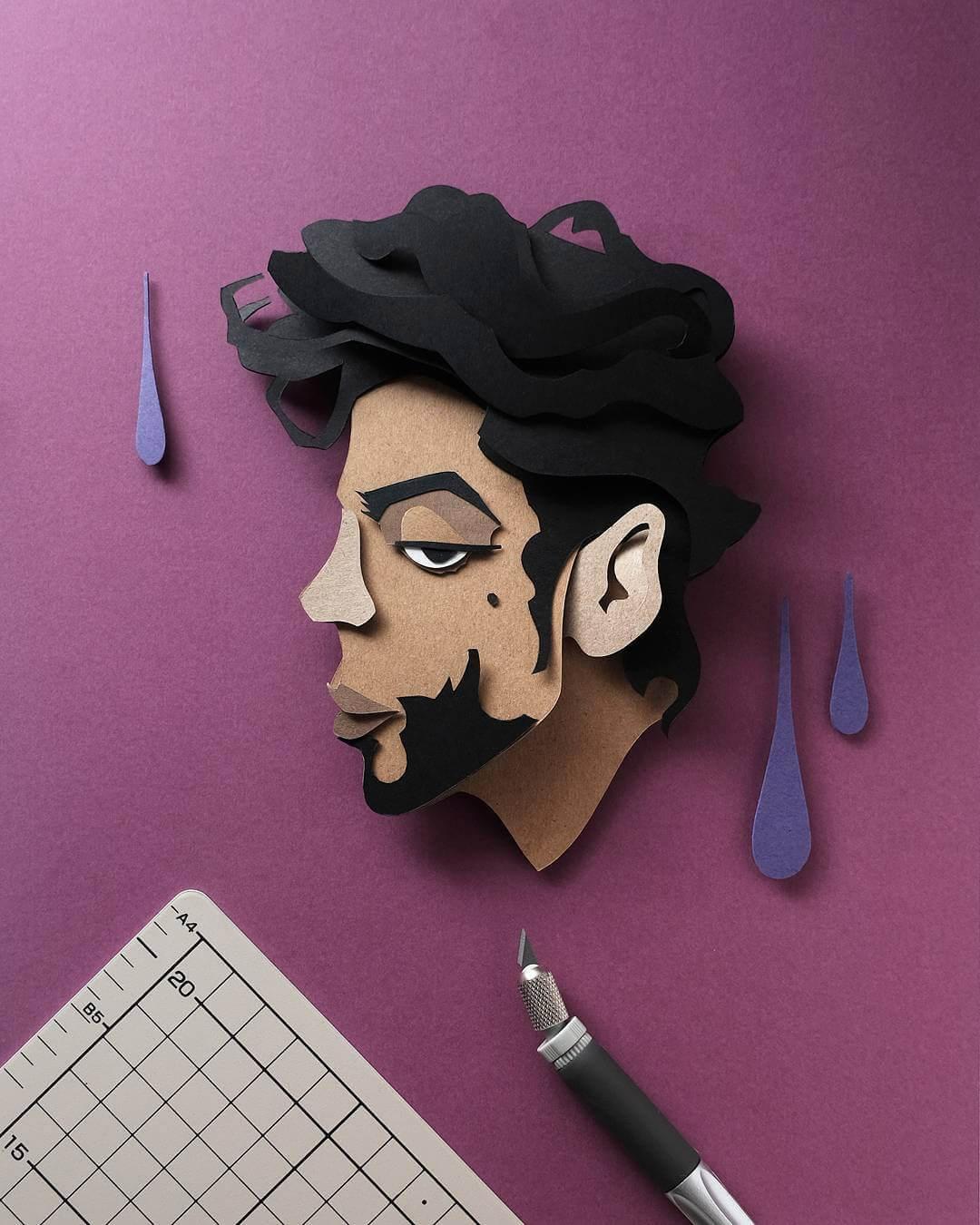 John Ed De Vera cutting paper art 6