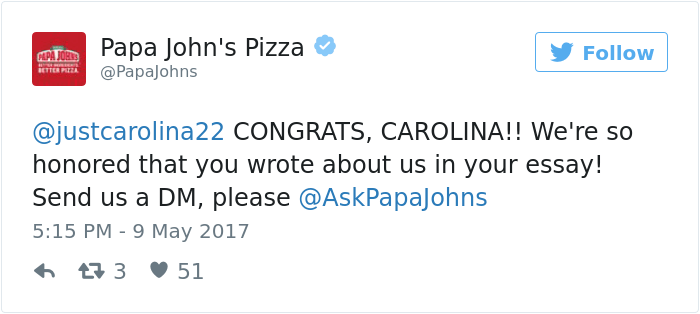 carolina williams papa john pizza essay 7