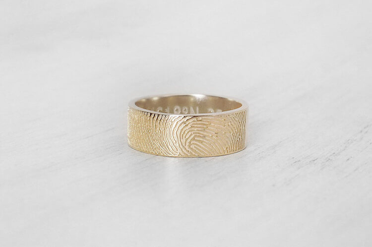 fingerprint wedding band 10