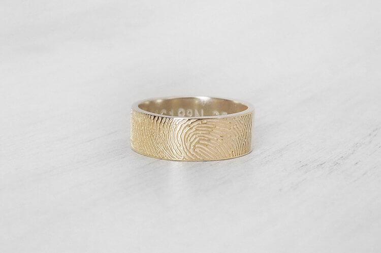 fingerprint wedding band 10