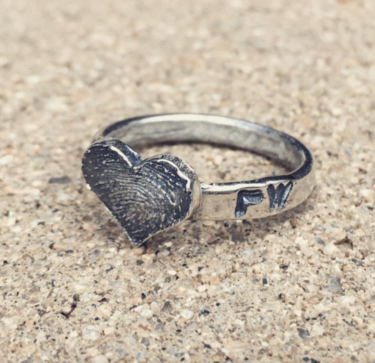 fingerprint wedding band 9