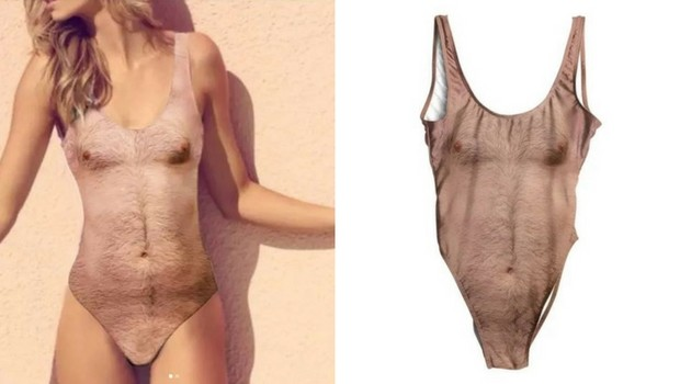 hairy chest swimsuit feat