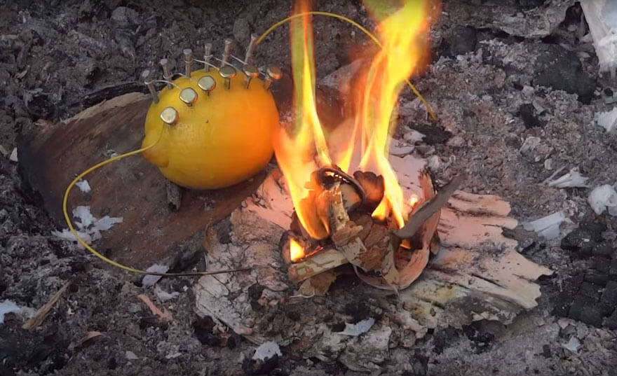 how to start a fire with a lemon 6