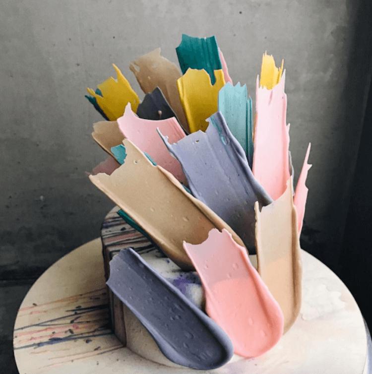 kalabasa brushstrokes cakes