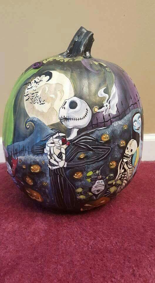 nightmare before christmas pumpkin carving 25