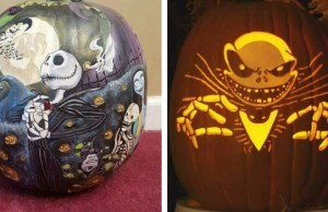 nightmare before christmas pumpkin carving feat