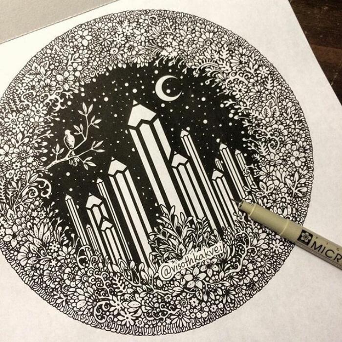 optical illusion drawings viso thkakvei 35