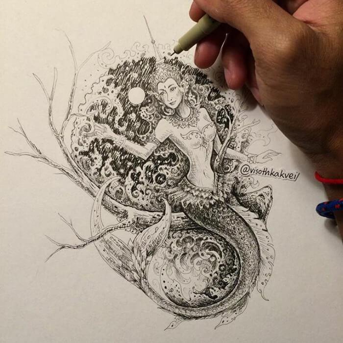 optical illusion drawings viso thkakvei 37
