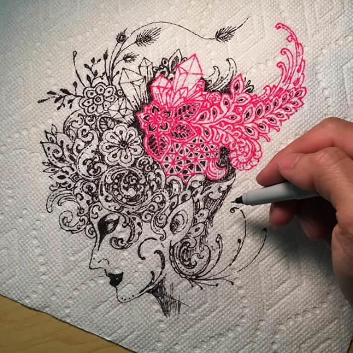 optical illusion drawings viso thkakvei 39
