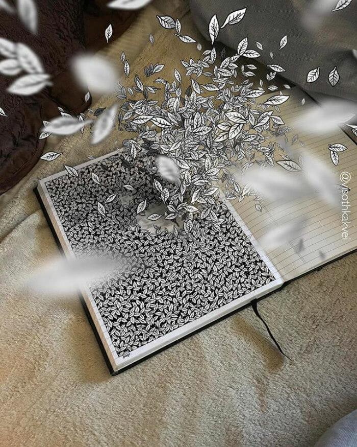 illusion drawings viso thkakvei 4