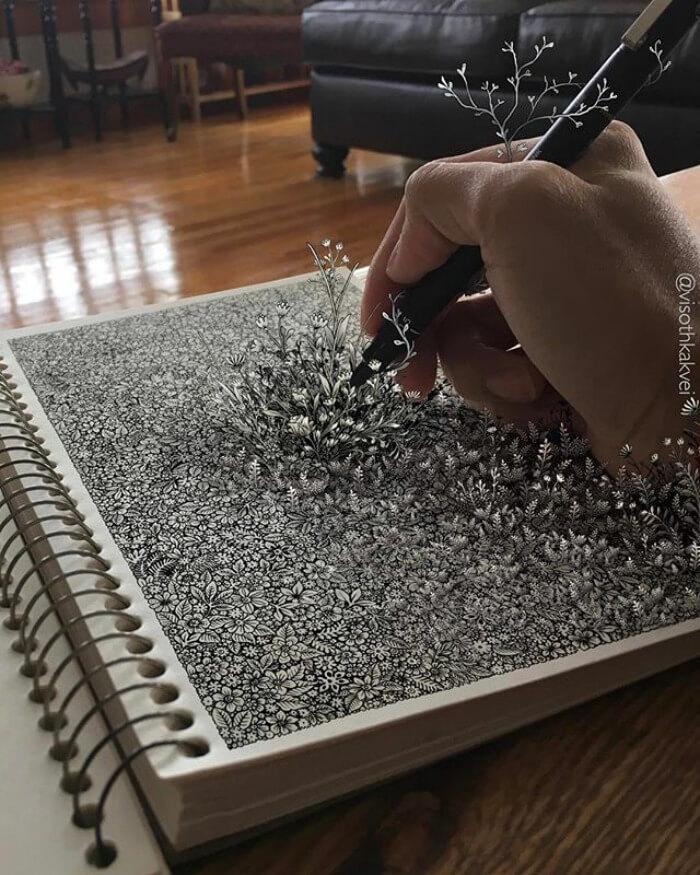 illusion drawings viso thkakvei 5